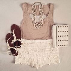 How to Chic: CROCHET SHORTS - OUTFIT SET