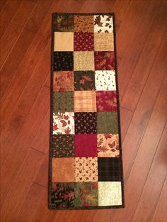Quilted table runner - charm squares  Heather