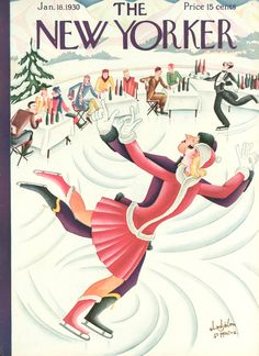 Click-through for a slide show of past New Yorker covers about winter sports