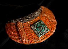 Some Fantastic Heirloom Skeypuks from Ladakh - ethnic jewels