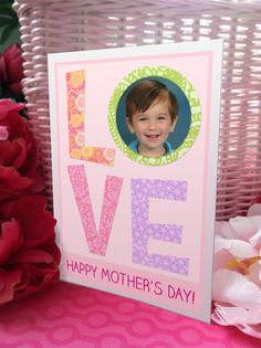 my little cutie pictured on a Mother's Day card I printed at a Kodak Picture Kiosk.