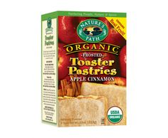 Nature's Path apple cinnamon frosted toaster pastries. A nice occasional treat.