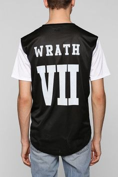 Urban Outfitters Wrath 7 Mesh Curved Hem Tee on shopstyle.com
