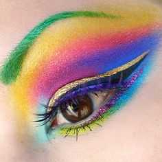 Shrinkle wearing all Sugar Pill eyeshadows, Goldilux as liner, Lit Cosmetics glitter, Inglot liquid liner for eyebrows.
