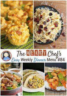 Easy Weekly Dinner Menu #84