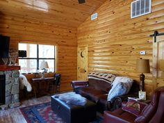 Log Cabin Siding direct from the manufacturer in Flomaton, AL - Southern Wood Specialties - P: 251-296-2556 Heart Pine Flooring, Pine Floors, Log Cabin Siding, Game Room, Man Cave, Southern, Yellow, Wood, Interior