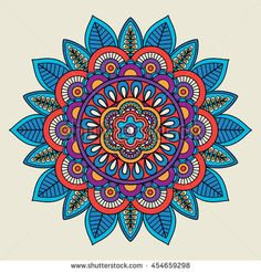 Find Round Floral Bright Colored Motif Vector stock images in HD and millions of other royalty-free stock photos, illustrations and vectors in the Shutterstock collection. Mandala Art, Mandala Drawing, Mandala Painting, Motif Vector, Vector Hand, Elefante Hindu, Mandala Coloring Pages, Illustrations, Fractal Art