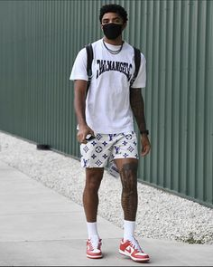 Dope Outfits For Guys, Swag Outfits Men, Summer Outfits Men, Street Style Outfits Men, Black Men Street Fashion, Hype Clothing, Mens Clothing Styles, Nba Fashion, Model