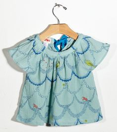Aqua Bird Blouse  Siaomimi