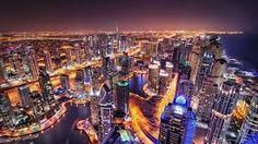 Dubai marina skyline during night. photo by kijevskymarek on Envato Elements Dubai Safari, Pixel City, City Vector, Visit Dubai, Tokyo Tower, Dubai City, Futuristic City, Job, City Illustration