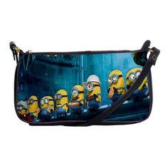 Arrival Despicable Me Inspired Cute Minions Shoulder Clutch Hand Bag Purse