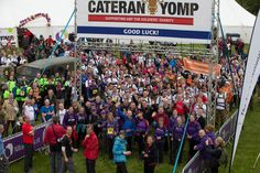 The start of the Alliance Trust Cateran Yomp 2015. Purple kit in the foreground supplied by Legends and the white t-shirts further back! #legendsbrandanddeliver