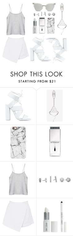"""WHITE FILLERS"" by eva-jez ❤ liked on Polyvore featuring Nly Shoes, Casetify, Givenchy, Kendra Scott, BeginAgain Toys, Lord & Berry, white and whitefillers"
