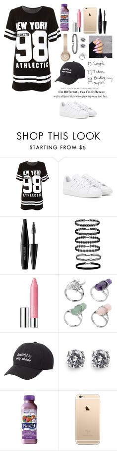 """""""Should I start doing QOTDs?"""" by ahriraine ❤ liked on Polyvore featuring adidas, MAKE UP FOR EVER, Clinique, Charlotte Russe, CZ by Kenneth Jay Lane and Zone"""