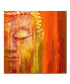 The Parvez Taj Budda Canvas Wall depicts the Buddha meditating serenely in a vibrant palette of reds and oranges. This beautifully colored fine art print has been professionally hand stretched, gallery wrapped, and arrives ready to hang. Buddha Canvas, Buddha Wall Art, Buddha Painting, Canvas Art Prints, Painting Prints, Canvas Wall Art, Paintings, Buddha Kunst, 3 Piece Art