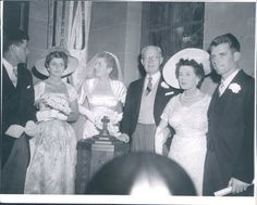 Patricia Kennedy with the Kennedy family at her 1954 wedding to actor Peter Lawford..(hi chris)