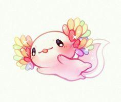 smiles and tears — Lil axolotl pals ✨ Cute Kawaii Animals, Cute Animal Drawings Kawaii, Cartoon Drawings, Cute Drawings, Cute Animals To Draw, Pet Anime, Anime Animals, Arte Do Kawaii, Kawaii Art