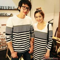 Playful Stripes Couple Long Sleeves (Pair)