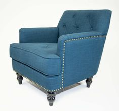 The timeless studded classic armchair with diamond button upholstery. Commercial Furniture, Armchairs, Design Your Own, Royal Blue, Upholstery, Lounge, Button, Diamond, Classic