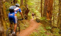 Located east of Eugene, the McKenzie River Trail is 26 miles of single-track. Some consider it one of the best mountain bike trails in the U.S.