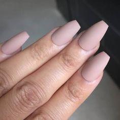 Pastel. Mauve coffin nail