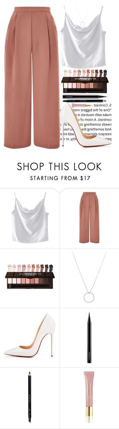 """""""Без названия #81"""" by alexnikulina ❤ liked on Polyvore featuring WithChic, Topshop, Roberto Coin, Christian Louboutin, MAC Cosmetics, Gucci and AERIN"""