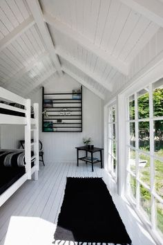 black and white summer house