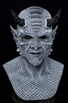 gargoyle huntchbaCK face painting   BELIAL THE DEMON (GRAY) Silicone Halloween Mask