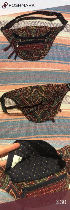 Vera Bradley Retired Print Vintage Fanny Pack Vera Bradley Retired Print Vintage Fanny Pack  Fanny pack is in great condition! Super cute! Great as a trendy accessory piece, and to keep your essential goodies nice and secure! Vera Bradley Bags