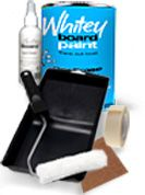 clear dry erase board paint. turns any wall into a dry erase board. could be fun!