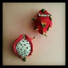 Cute dragon fruit broach.