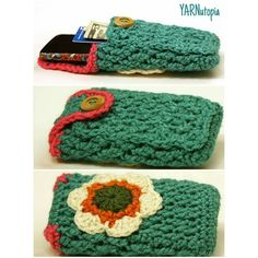 Yarnutopia: Free crochet pattern - Cell Phone Case with secret compartment to conceal money, credit cards and an ID.