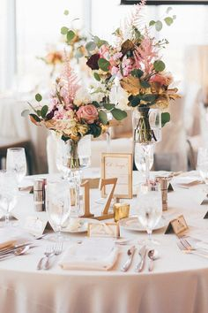 Table Numbers for Wedding and Events Gold Wedding Decor