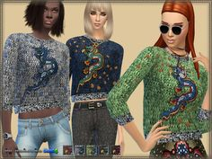 Sims 4 CC's - The Best: Sweater Dragon by Bukovka
