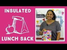 Knitting Patterns Sack Insulated Lunch Sack: Quick and Easy Craft Tutorial with Vanessa of Crafty Gemini Creates Quilting Tutorials, Craft Tutorials, Quilting Projects, Sewing Tutorials, Sewing Crafts, Sewing Projects, Sewing Ideas, Quilting Ideas, Craft Ideas