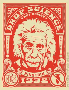 drop science, not bombs // einstein // poster // kevin mccormick