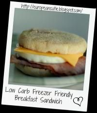 Low Carb Freezer Friendly Breakfast Sandwich on MyRecipeMagic.com. These are so delicious. A quick grab n go breakfast!