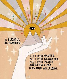 A blissful recognition Mini Art Print by Asja Boros - Without Stand - 3 Pretty Words, Beautiful Words, Positive Affirmations, Positive Quotes, Quotes To Live By, Me Quotes, Beau Message, All I Ever Wanted, New Energy
