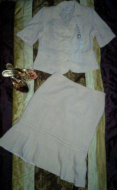 Elegancka garsonka kostium kremowa wiosna 42 (5151855181) - Allegro.pl - Więcej niż aukcje.