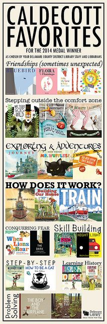 Caldecott Favorites for 2014 | www.delawarelibrary.org/children Kids Reading, Teaching Reading, Reading Lists, Book Lists, Learning, Library Lessons, Library Books, Library Ideas, Book Suggestions