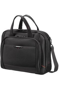NEW Samsonite Pro-Deluxe 4 Nylon Leather Laptop Briefcase a441edf117