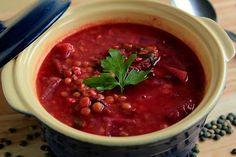 Zupa z soczewicy i buraków