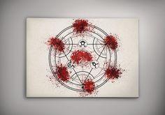 Transmutation Circle Fullmetal Alchemist FMA Anime Manga Watercolor Print Poster  No797