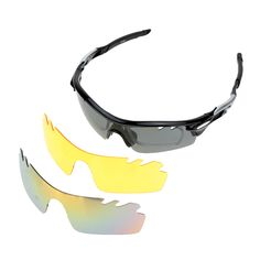 Outdoor Sports Sunglasses Cycling Polarized Glasses with 3 Interchangeable Lenses Set