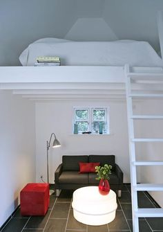 We could do a smaller version of this in our master suite. A fun place for the kids to stay when we have company? :)