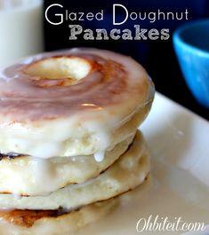 ~Glazed Doughnut Pancakes!