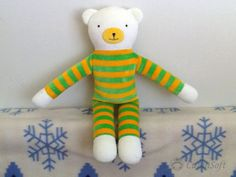 Stuffed bear Stuffed Animal plush bear eco friendly by CutenSoft, $40.00
