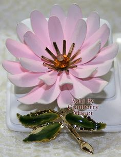 Great blog post showcasing pink vintage jewelry
