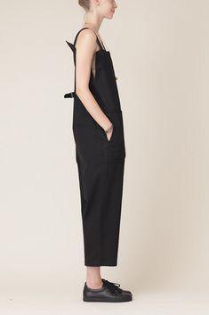 Y's by Yohji Yamamoto High Waist Suspender Pant (Black) Dark Fashion, Minimal Fashion, High Fashion, Black Wardrobe, Suspender Pants, Fashion Details, Fashion Design, Love Clothing, Yohji Yamamoto