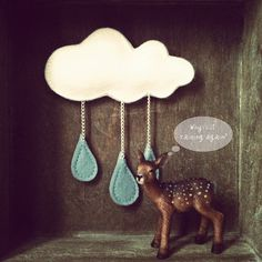 The Cloud  Rain Brooch by made by agah, via Flickr